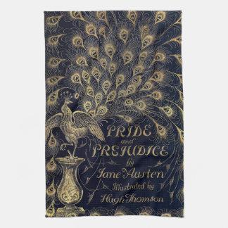 Antique Jane Austen Pride and Prejudice Peacock Tea Towel