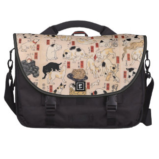 Antique Japanese Design Commuter Bag with Cats