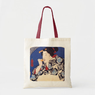 Antique Japanese Design Tote Bags