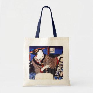 Antique Japanese Design Tote (Blue) Tote Bag