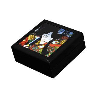 Antique Japanese samurai warrior Small Square Gift Box