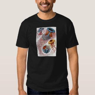 Antique Jelly fish Sealife Color Illustration Tshirt