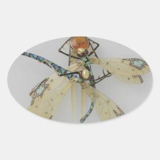 Antique jewelry oval sticker