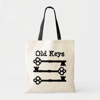 Antique keys cute goth budget tote bag