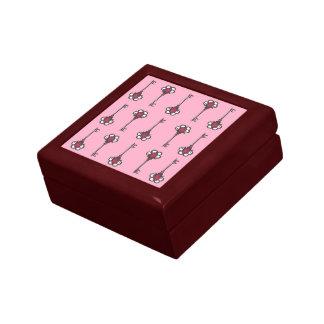 Antique Keys Pattern Pink Gift Keepsake Box