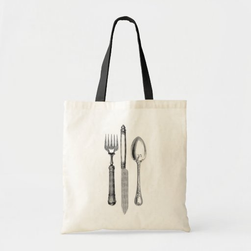Antique knife fork and spoon combo Decoration Tote Bag