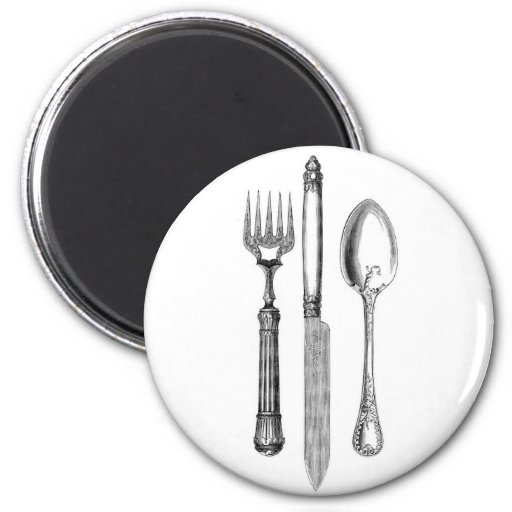 Antique knife fork and spoon combo Decoration Magnets