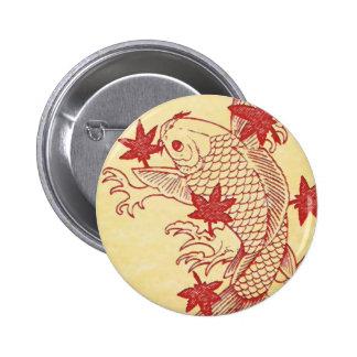 Antique Koi Pinback Button