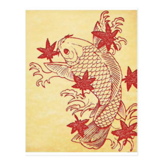 Antique Koi Postcard