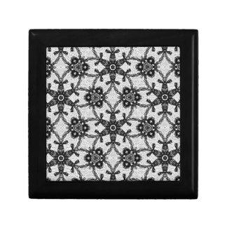Antique lace - black and white keepsake boxes
