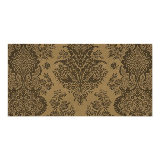 Antique Lace Brown Customized Photo Card
