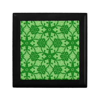 Antique lace - emerald and lime green trinket box