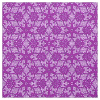 Antique lace print - amethyst purple fabric