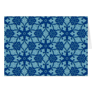 Antique lace - sapphire and pale blue card