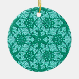 Antique lace - turquoise and aqua ornaments