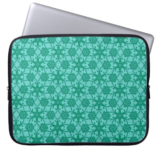 Antique lace - turquoise and aqua laptop sleeve