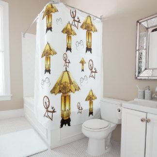 Antique lamps shower curtain