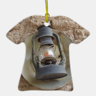 Antique Lantern Ceramic T-Shirt Decoration