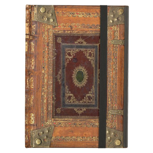 Antique Leather And Brass Bound Book Cover