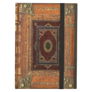 Antique Leather And Brass Bound Book Cover iPad Air Covers