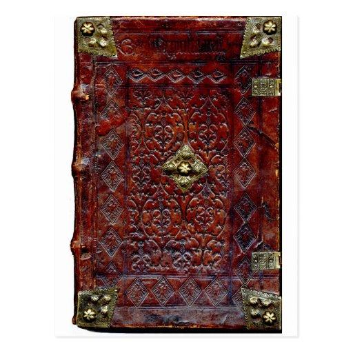 Antique Leather Book Bibliophile Post Card