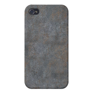 Antique Leather Book Cover Distressed and Worn iPhone 4 Cover