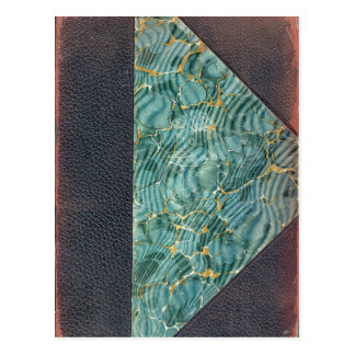 Antique Leather Book Cover Post Card