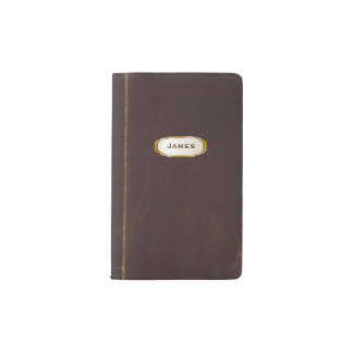 Antique Leather Book Look Moleskine Notebook Cover