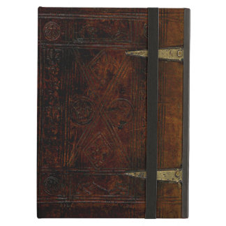 Antique Leather Bound Engraved Book Cover iPad Air Case