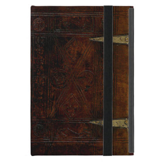 Antique Leather Bound Engraved Book Cover iPad Mini Cases