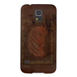 Antique Leather Look Horse Galaxy Nexus Case