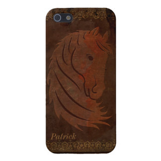 Antique Leather Look Horse iPhone 5 Case