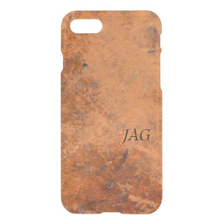 Antique Leather Look Monogram iPhone 8/7 Case