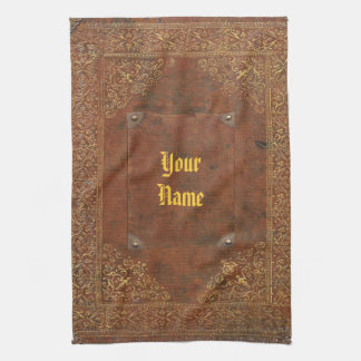 Antique Leather look Tea Towel