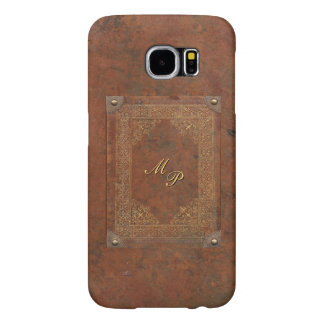 Antique Leather Look with Monogram Samsung Galaxy S6 Cases