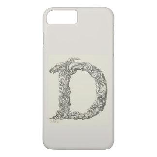 Antique Letter D Monogram Initial iPhone 8 Plus/7 Plus Case