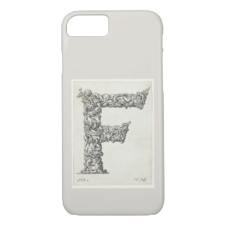 Antique Letter F Monogram Initial iPhone 8/7 Case