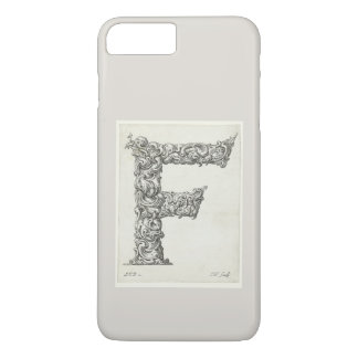 Antique Letter F Monogram Initial iPhone 8 Plus/7 Plus Case