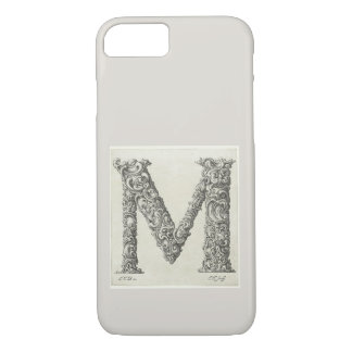 Antique Letter M Initial Monogram iPhone 8/7 Case