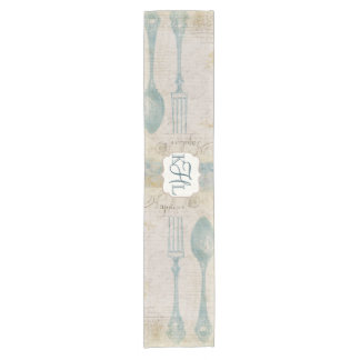 Antique Lettering Personalize Table Runner