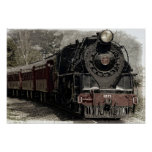 Antique Locomotive Steam Engine Train Poster