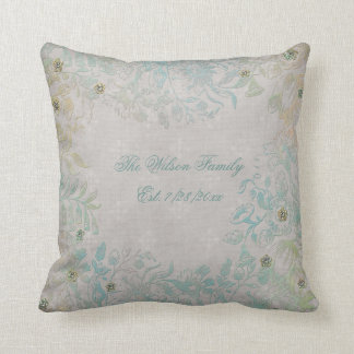 Antique Look Floral Family Cushion
