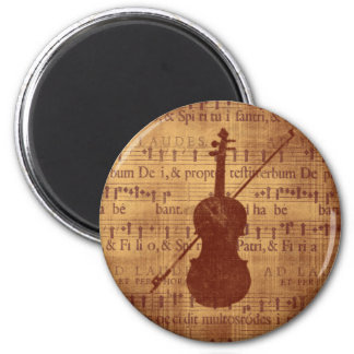 Antique look Violin Magnet