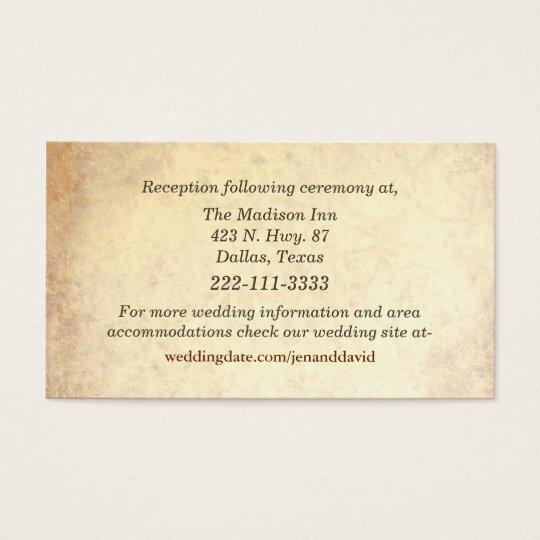 Antique Look Wedding Enclosure Cards