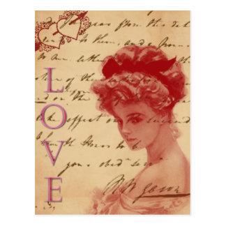Antique Love Letter Post Card