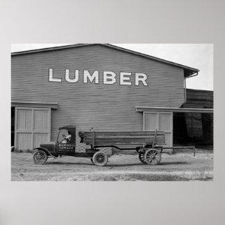 Antique Lumber Truck: 1925 Poster