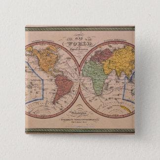 Antique Map 15 Cm Square Badge
