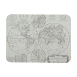 Antique Map 2 Rectangle Magnets