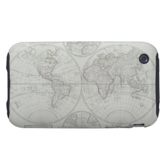 Antique Map 2 Tough iPhone 3 Cases
