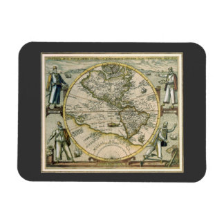 Antique Map, America Sive Novus Orbis, 1596 Rectangular Photo Magnet